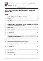 Richtlinie für die Gewährung von Leistungen zur Bildung und ...