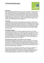 Teilnahmebedingungen - Harburger LernWelten