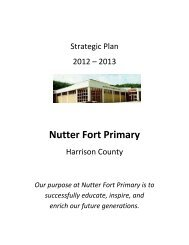 Nutter Fort Primary - Harrison County Schools