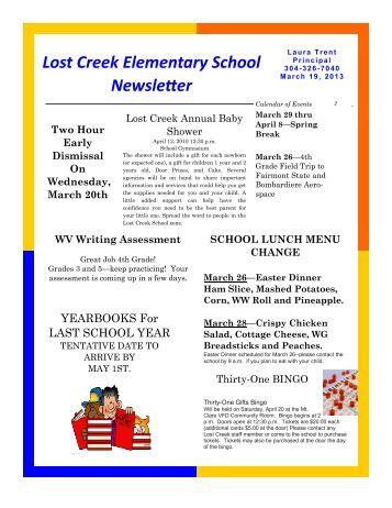 Lost Creek Elementary School Newsletter