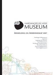 Årsmelding 2007 Hardanger og Voss museum