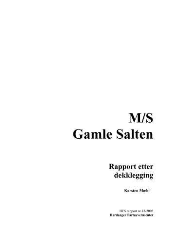 Gamle Salten Dekkslegging - Hardanger og Voss Museum