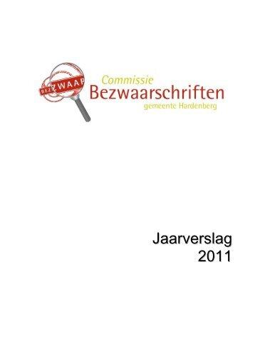 Jaarverslag 2011 (PDF, 151 kB) - Gemeente Hardenberg