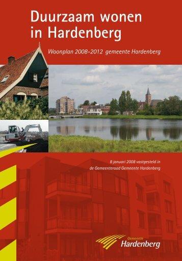 Woonplan 2008-2012 - Gemeente Hardenberg