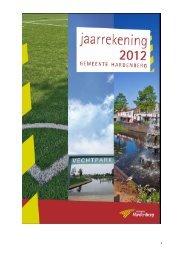 Jaarrekening 2012 - Gemeente Hardenberg