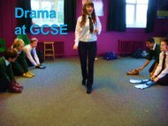 Drama Options Presentation - Hardenhuish School