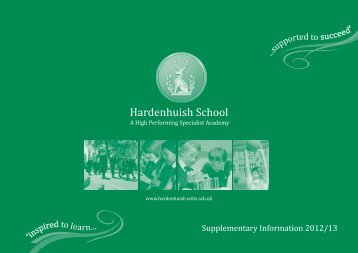 Supplementary Brochure 2012-13 - Hardenhuish School
