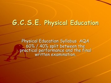 PE Options Presentation - Hardenhuish School