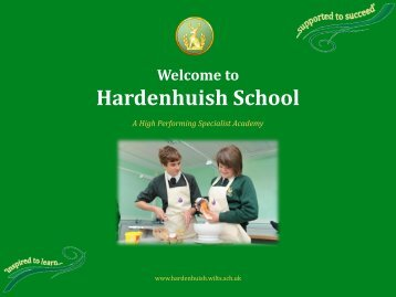 Food Technology Options Presentation - Hardenhuish School