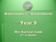 Maths Presentation Year 9 Parent Forum 19 09 2012