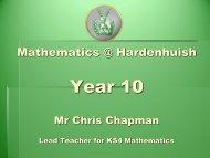 Year 10 Parent Forum Maths Presentation September 2012 ...