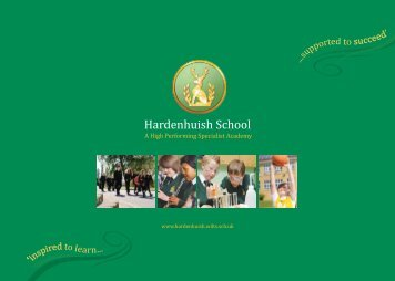 Inspired to learn - Hardenhuish School