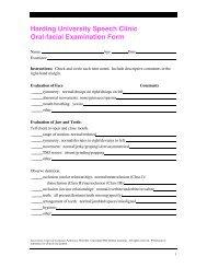 oral peripheral examination form