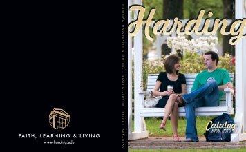 Catalog Cover PDF - Harding University