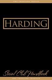 Social Club Handbook PDF - Harding University