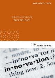 Innovationen & Neuheiten - Ausgabe I-2009 - Hardy Schmitz Shop