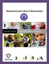 Community Health Assessment - Harford County Health