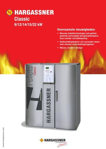 Classic 9/12/14/15/22 kW PELLETKETELS - Hargassner