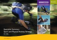 Sport and Physical Activity Executive Summary - Haringey Council