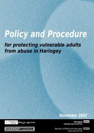 Policy and Procedure - Haringey Council