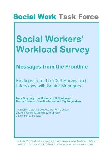 Workload Survey - Digital Education Resource Archive (DERA)