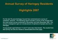 Resident Survey 2007 - Haringey Council