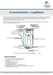Druckstrahlsystem - ImageBlaster