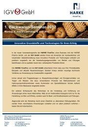 1. Backwaren-Seminar 2012 - IGV Institut für Getreideverarbeitung ...