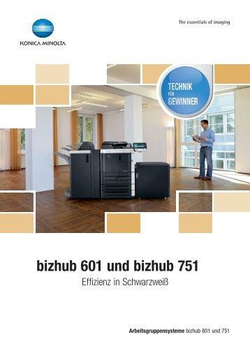 bizhub 601 und bizhub 751