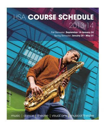 2013-14 Course Schedules - The Harlem School of the Arts
