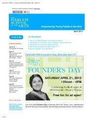 April 2012 ENews - Join us for HSA Founder's Day, April 21!