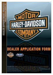 DEALER APPLICATION FORM - Harley-Davidson