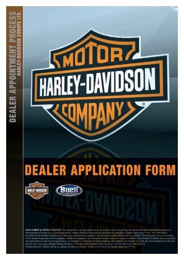 DEALER APPLICATION FORM - Harley-Davidson