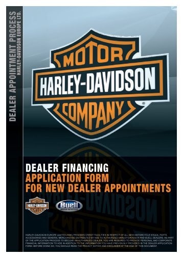DEALER FINANCING APPLICATION FORM FOR ... - Harley-Davidson