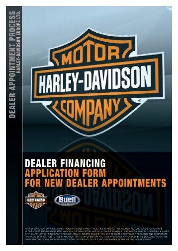 DEALER FINANCING APPLICATION FORM FOR ... - Harley-Davidson