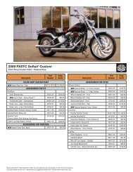 2009 FXSTC Softail® Custom - Harley-Davidson