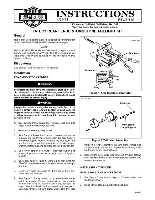 INSTRUCTIONS - Harley-Davidson on