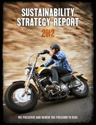 SUSTAINABILITY STRATEGY REPORT 2012 - Harley-Davidson