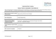 Regeneration Strategy Refresh EIA January 2011 - Harlow Council