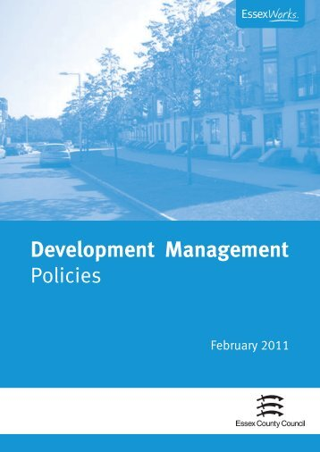 Development Management Policies - Essex County Council