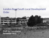 LDO consultation Statement of Reasons - including ... - Harlow Council