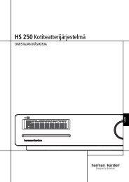 HS 250 Kotiteatterijärjestelmä - Harman Kardon
