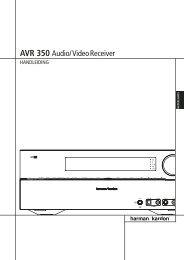 AVR 350 Audio/VideoReceiver - Harman Kardon