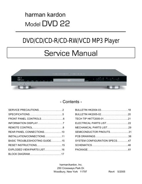 Service Manual - Harman Kardon