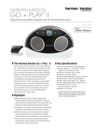 go + play™ II - Harman Kardon