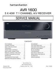 AVR 1600 - Harman Kardon