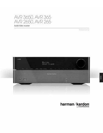AVR 3650, AVR 365 AVR 2650, AVR 265 - Harman Kardon