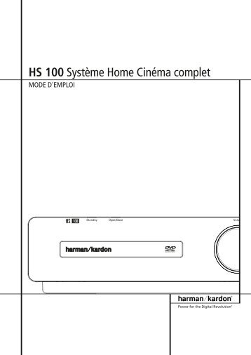 HS 100 Système Home Cinéma complet - Harman Kardon