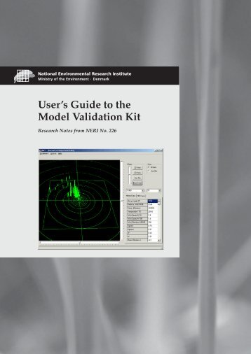 User's Guide to the Model Validation Kit - Harmonisation within ...