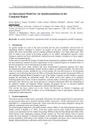 An operational model for air quality simulations in the Campania ...